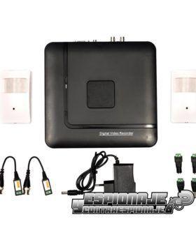 kit cctv con 2 cámaras en detectores de movimiento