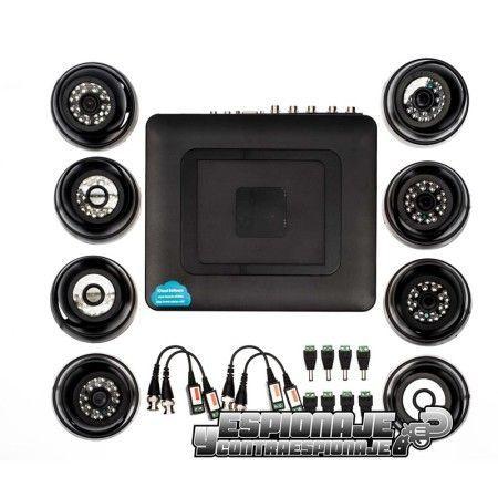 kit cctv con 8 cámaras analógicas