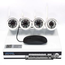 kit cctv con 4 cámaras ip